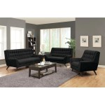 Natalia Mid Century Modern Black Sofa 80 X 39 50 X 41