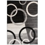 Contemporary Circles Shapes Grey Black White Area Rug 7 10 X 10 2 Overstock 22160397