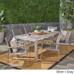 Rowan Outdoor Aluminum 7 Piece Dining Set With Glass Table Top By Christopher Knight Home Overstock 22169741