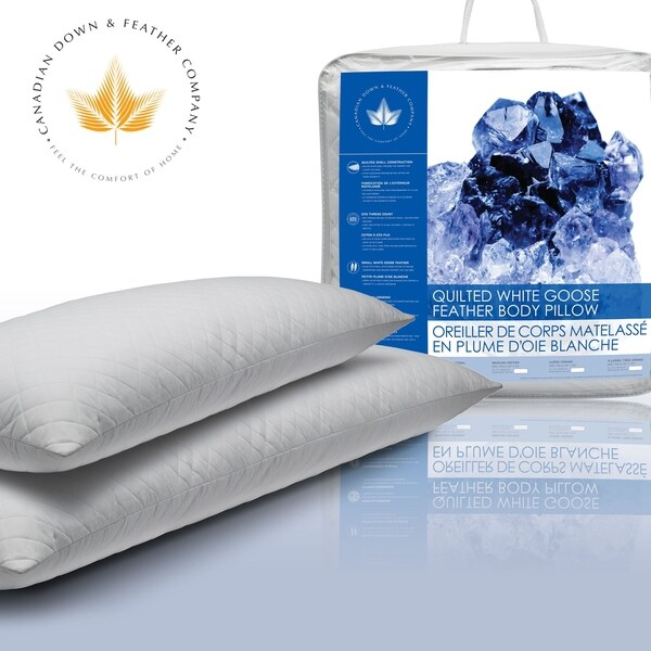 canadian down amp feather company quilted white goose feather body pillow