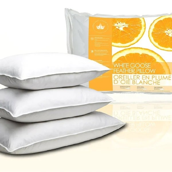 canadian down amp feather company white goose feather pillows set
