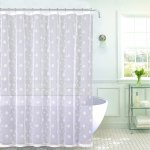 Emily Decorative Sheer Fabric Shower Curtain White Silver Embroidered Flowers 70 X 72 Overstock 22321920