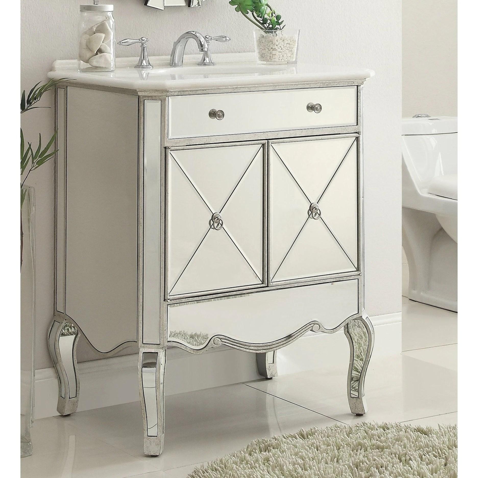 30 benton collection adelisa contemporary mirrored bathroom vanity