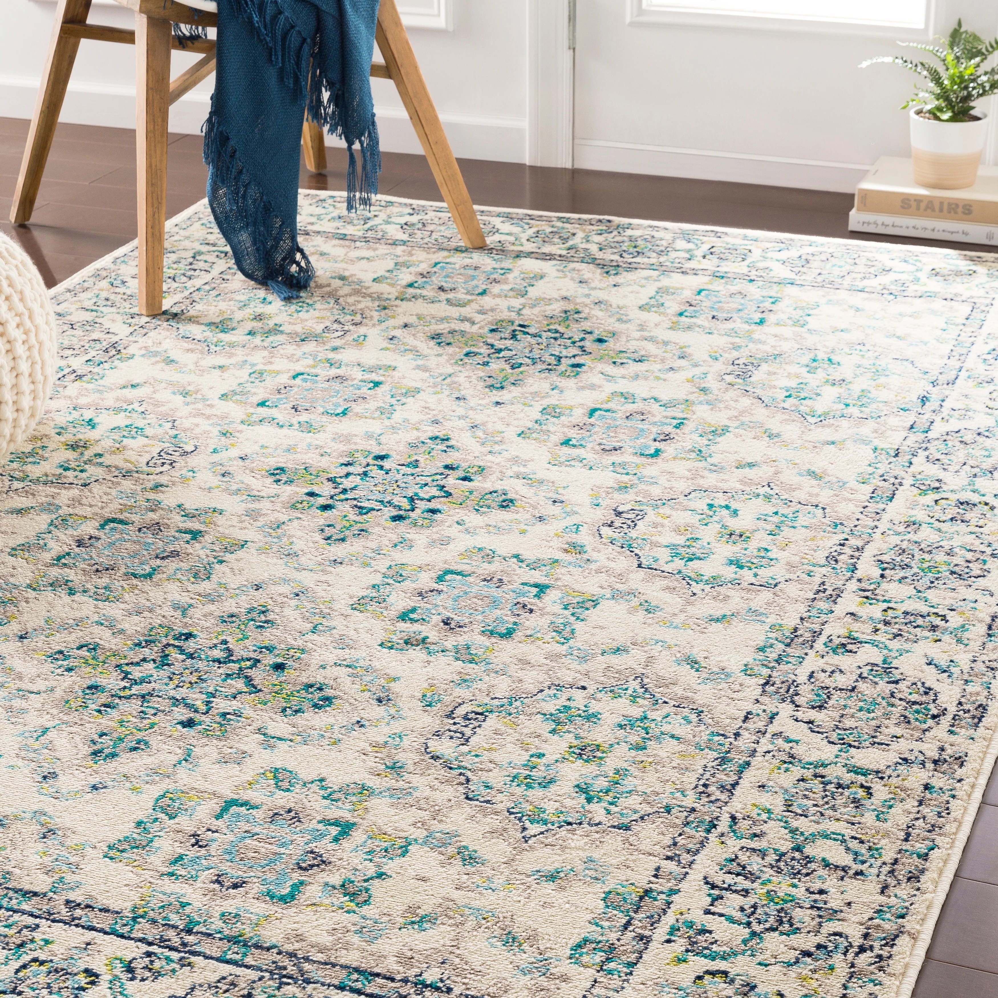 Eveliina Transitional Teal Accent Rug 2 X 3 Overstock 22402589