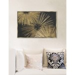 Modern Oliver Gal Sunburst Glam Luxe Black Gold Abstract Framed Wall Art Canvas Overstock 22485675