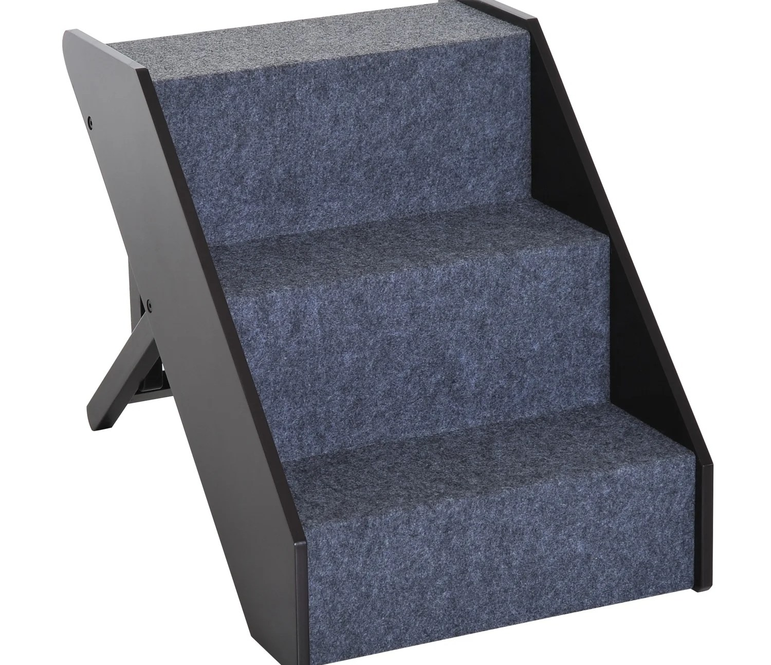 Shop Pawhut 3 Step Adjustable Wooden Portable Folding Pet Stairs   3 Step Wooden Stairs   2 Step   Easy   Stringer   Tread   Outside