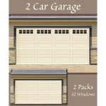 Decorative Magnetic Double Door Garage Windows Black 32 Pc Set On Sale Overstock 22578060