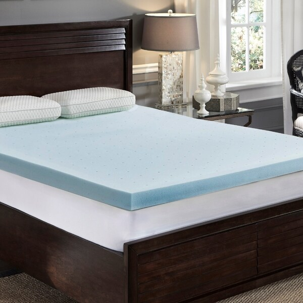 shop loftworks 3 inch jelly soft cool gel memory foam topper with ventilation and extra soft pressure relief t on sale free shipping today