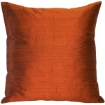 Pillow Decor Sankara Burnt Orange Silk Throw Pillow 18x18 Overstock 22798116