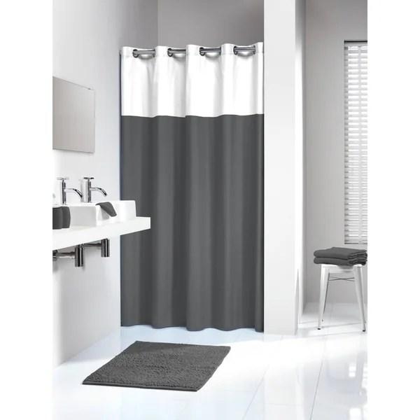 Shop Sealskin Extra Long Hookless Shower Curtain 78 X 72 Inch Doppio Gray On Sale Free