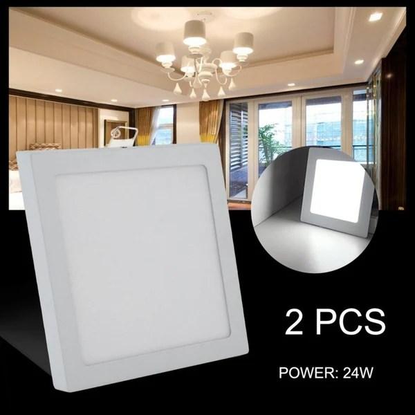 2 pack 24w led panel light 6500k cold