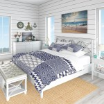 Designart Japanese Ocean Wave Pattern Costal Bedding Set Duvet Cover Shams Overstock 23506785