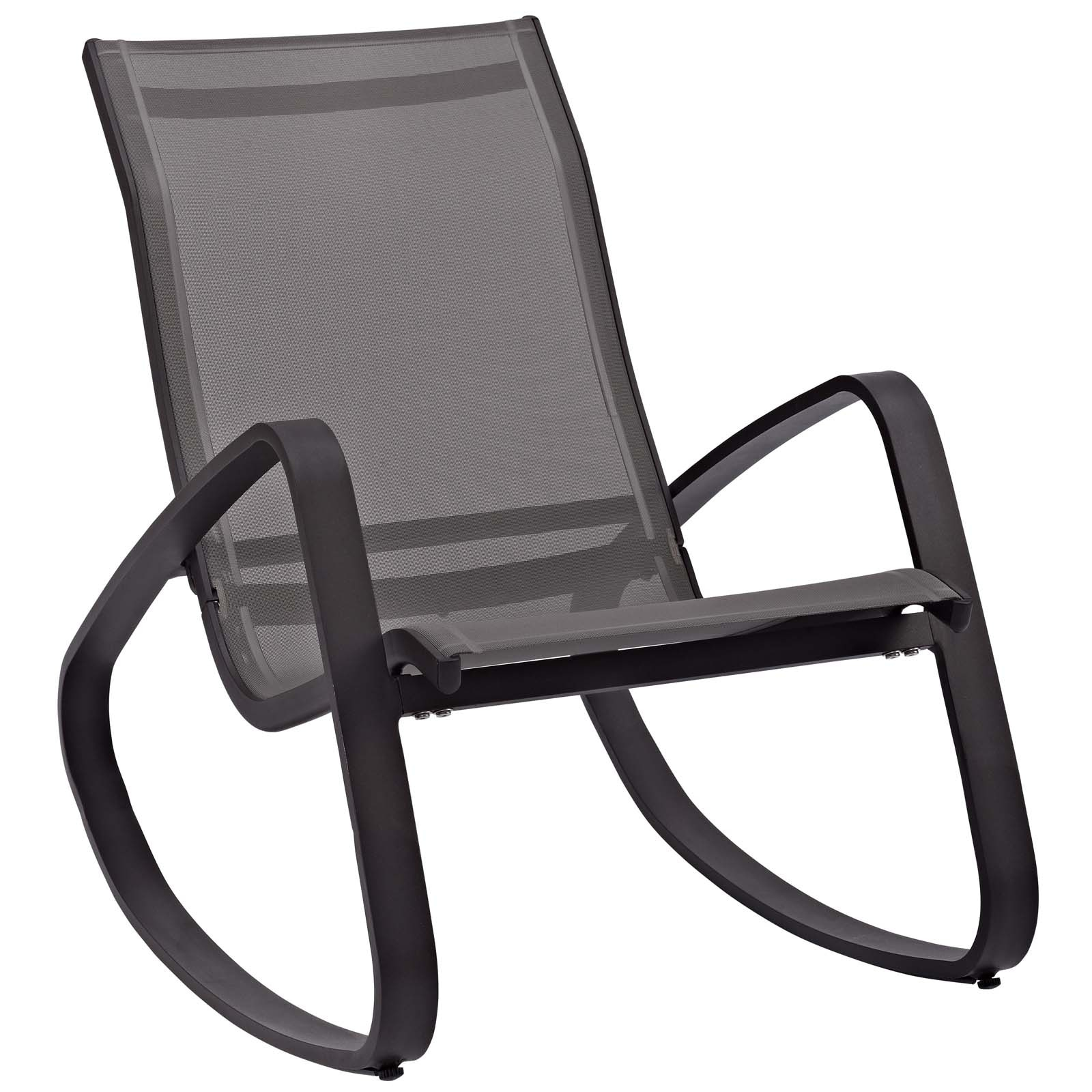 Shop Black Friday Deals On Traveler Rocking Outdoor Patio Mesh Sling Lounge Chair On Sale Overstock 23534026