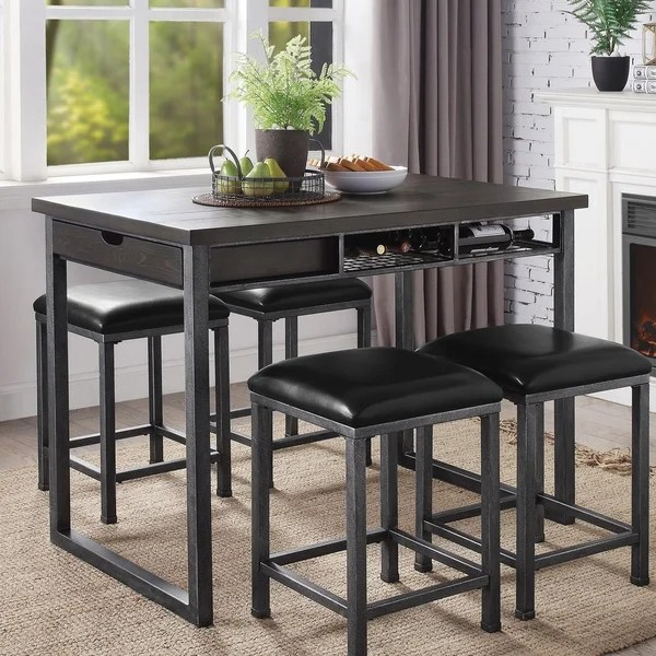 counter height storage dining table Shop Furniture of America Alto Industrial Counter Height