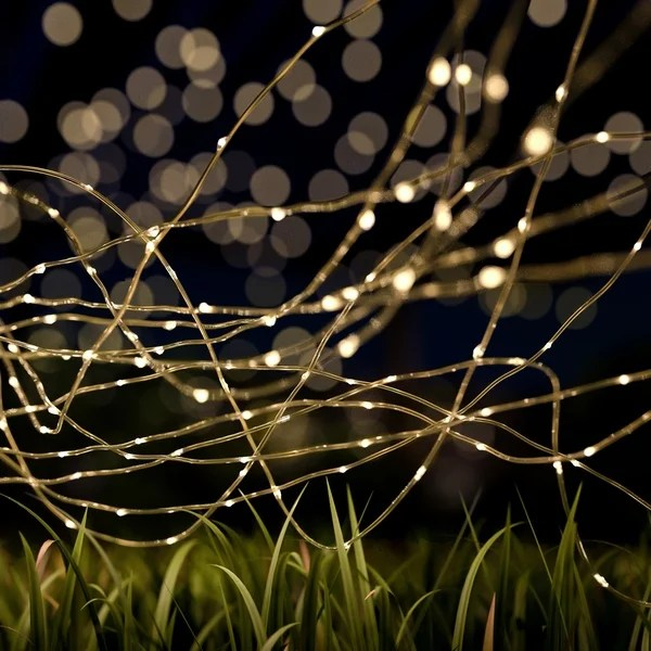 Shop Starry Solar String Lights Warm White Fairy Led Lights Pure Garden Overstock 24072518