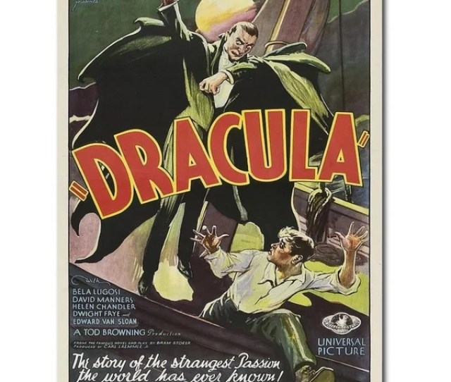 Dracula 1931 By Anonymous Gallery Wrapped Canvas Giclee Art 16 In X 12 In
