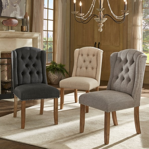 Shop Nola Tufted Wingback Dining Chair With Nailhead Trim