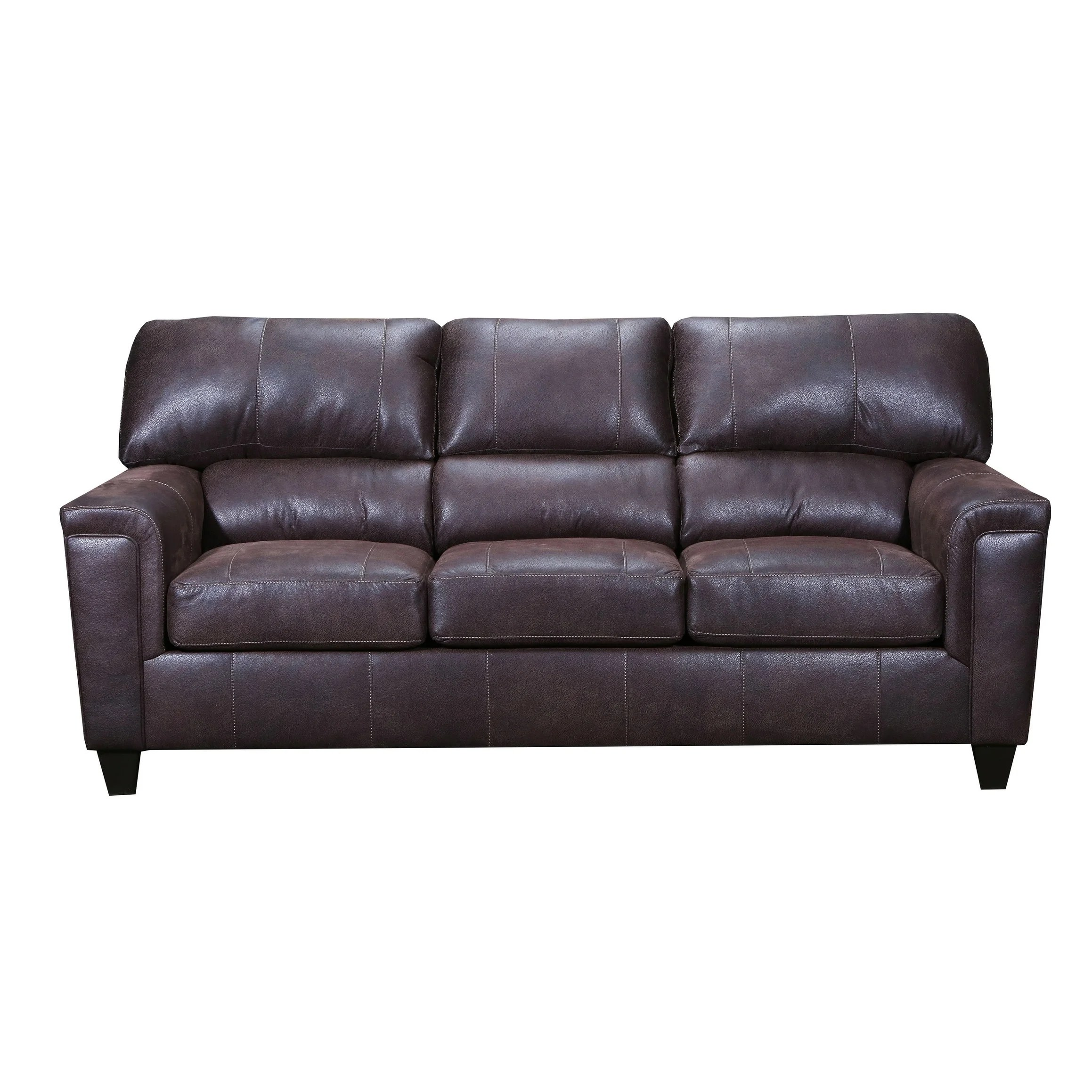 moa faux leather queen sleeper sofa
