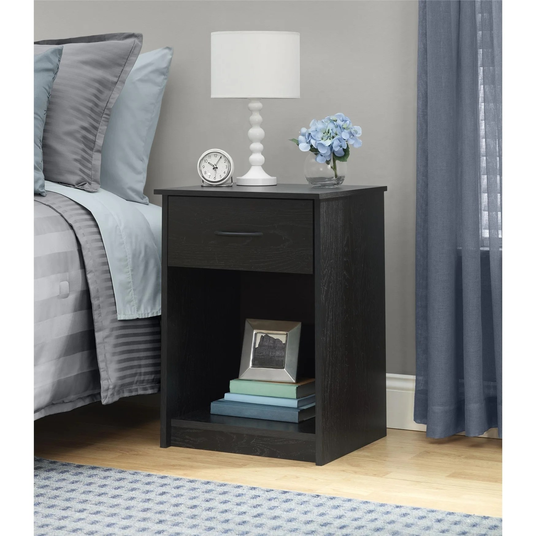 Ameriwood Home Core Black Oak Nightstand