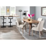 Shop The Gray Barn Spelling Stream Farmhouse Upholstered Dining Chair With White Washed Wood Set Of 2 N A On Sale Overstock 25661081 Grey
