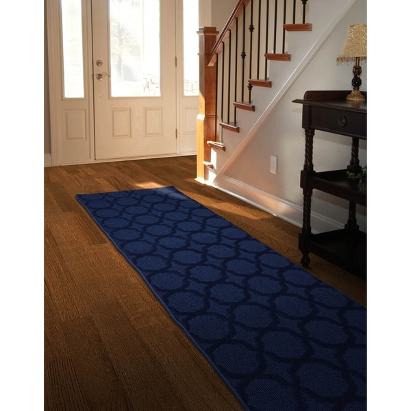 Shop Sparta NavyLarge Living Room Area Rug Runner - Free ... on Sparta Outdoor Living id=53241