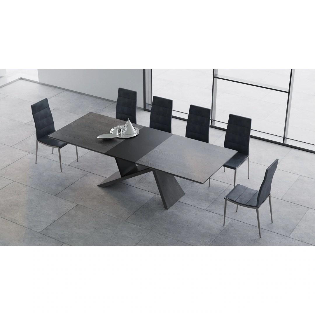 Shop B Modern Artiste Grey Oak Extension Modern Dining Table Overstock 25733890