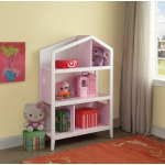 Acme Doll Cottage Bookcase White And Pink