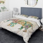 Designart Boho Paisley Elephant Ii Vii Traditional Bedding Set Duvet Cover Shams Multi Color Overstock 25971354