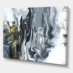 Designart White Grey And White Marble Acrylic Mid Century Modern Gallery Wrapped Canvas Overstock 26036239