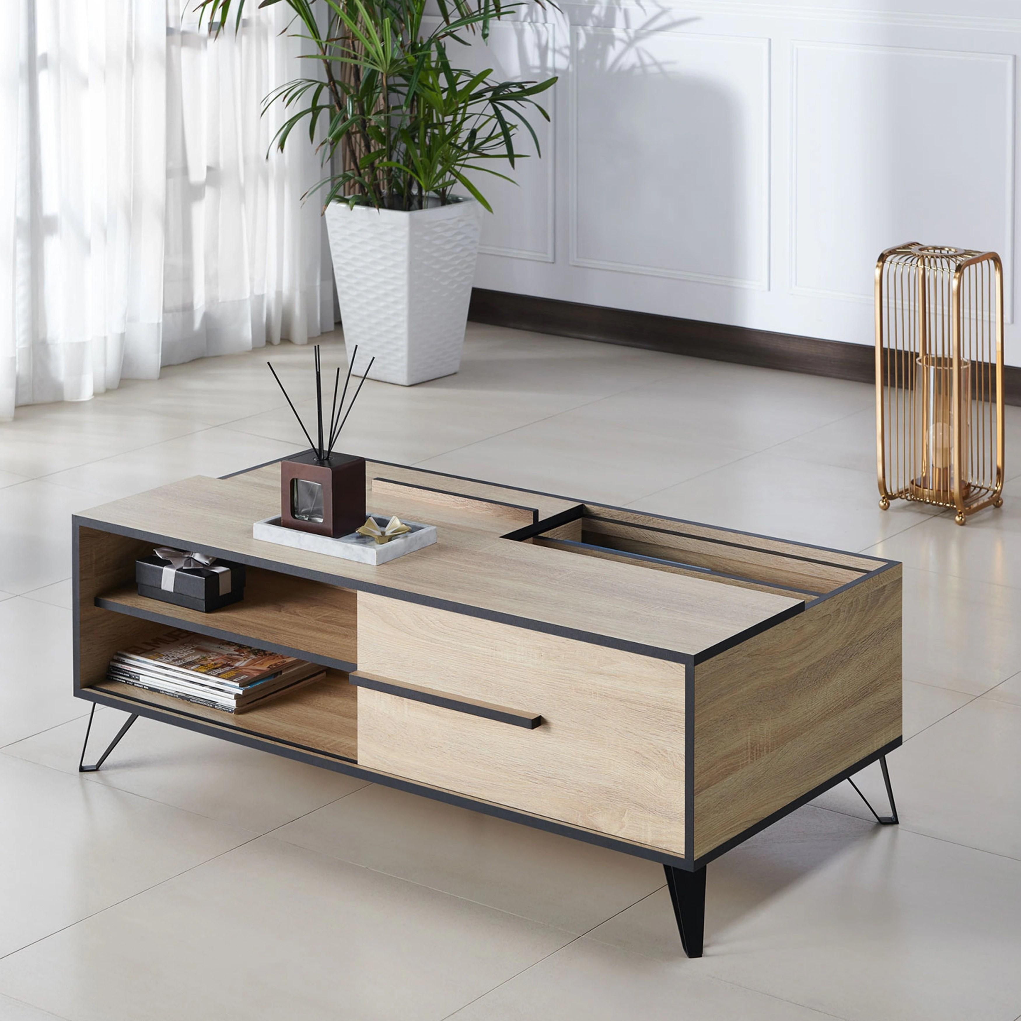 Shop Carbon Loft Feleni Mid Century Modern Storage Coffee Table Overstock 26058404