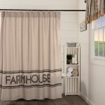 Details About Sawyer Mill Charcoal Farmhouse Shower Curtain Asphalt Khaki Shower Curtain 72x7