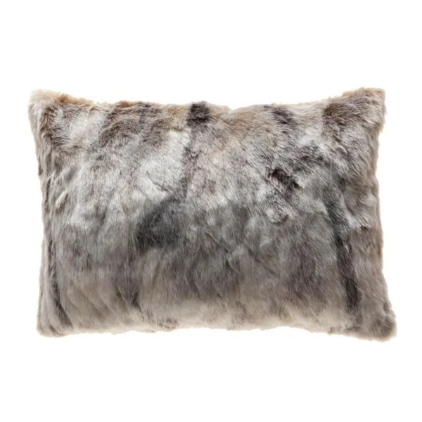 faux lumbar pillow cover 14x20 on