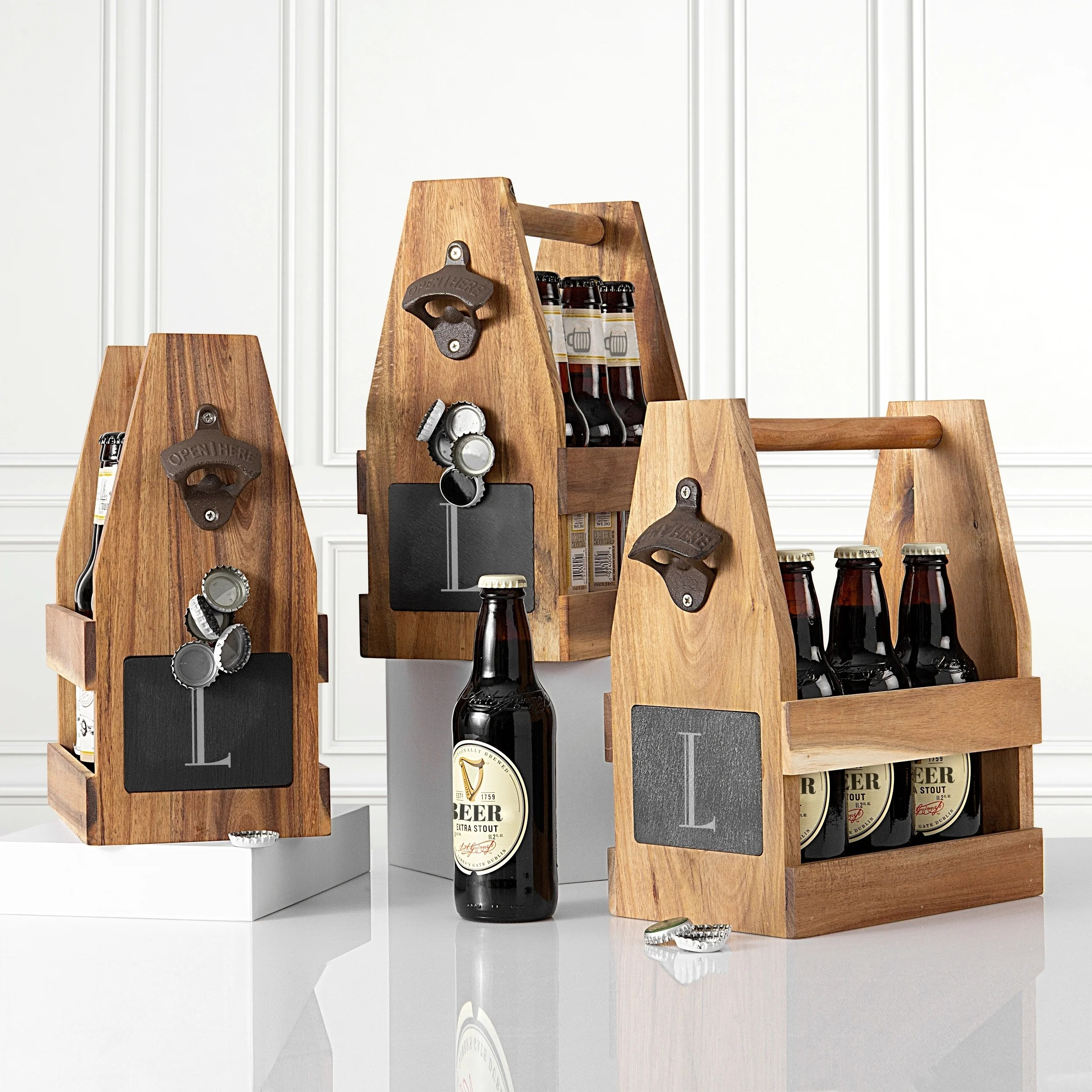 personalized wine caddy pop the