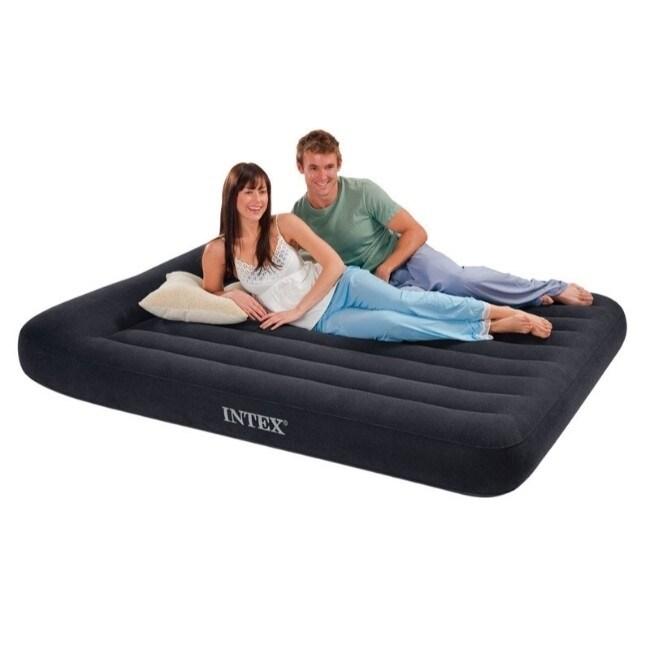 intex dura beam air mattress twin pump included