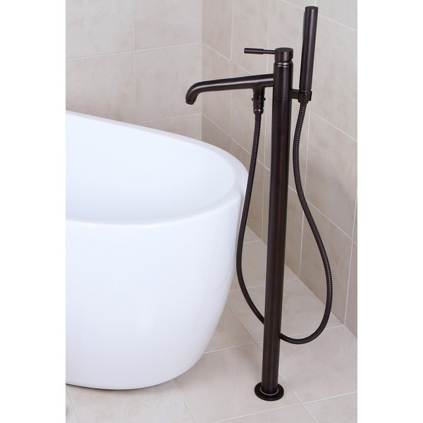 Shop Freestanding Oil Rubbed Bronze Floor Mount Bathtub