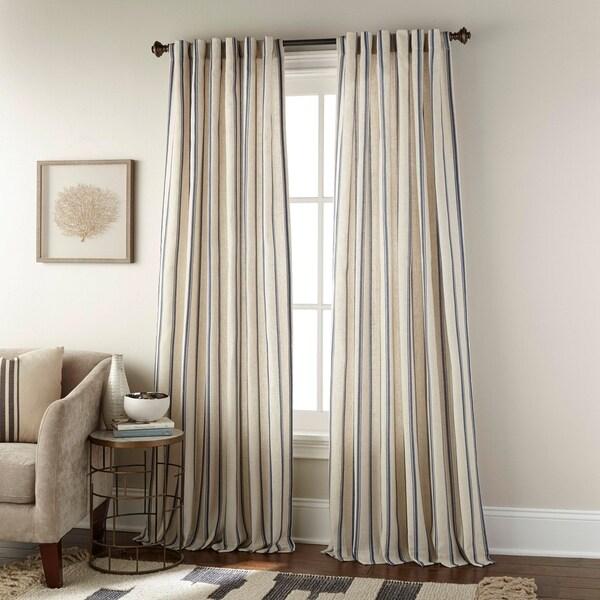 clementine vertical stripe single curtain panel