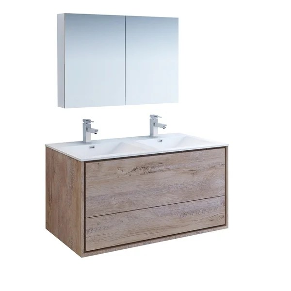 https www overstock com home garden fresca catania 48 rustic natural wood wall hung double sink modern bathroom vanity w medicine cabinet 27034113 product html