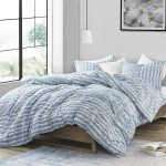 Porch Den Alton Aura Blue Super Soft Microfiber Oversized Comforter Set Overstock 27070107
