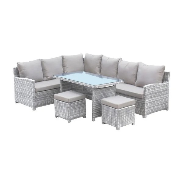 athens 5 pc sectional dining set with cushions