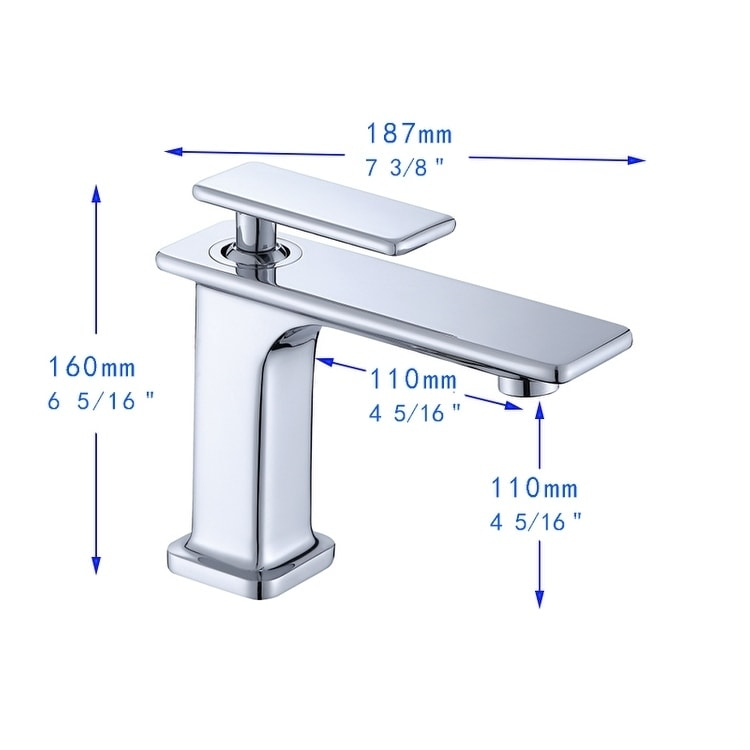 vanity art 6 5 height bathroom vessel faucet single handle single hole vanity sink faucet round faucet spout chrome finish