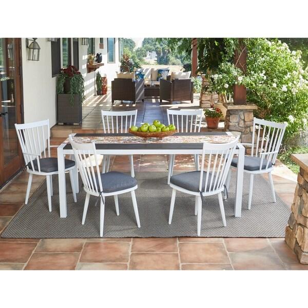 Shop Handy Living Buena Vista 7-piece White Indoor/Outdoor ... on Outdoor Living Shop id=80200