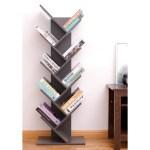 Carbon Loft Drake Wooden 9 Shelf Tree Magazine Cd Storage Bookcase