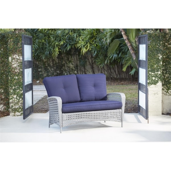 COSCO Outdoor Living Lakewood Ranch Steel Woven Wicker ... on Outdoor Living Wicker  id=56698