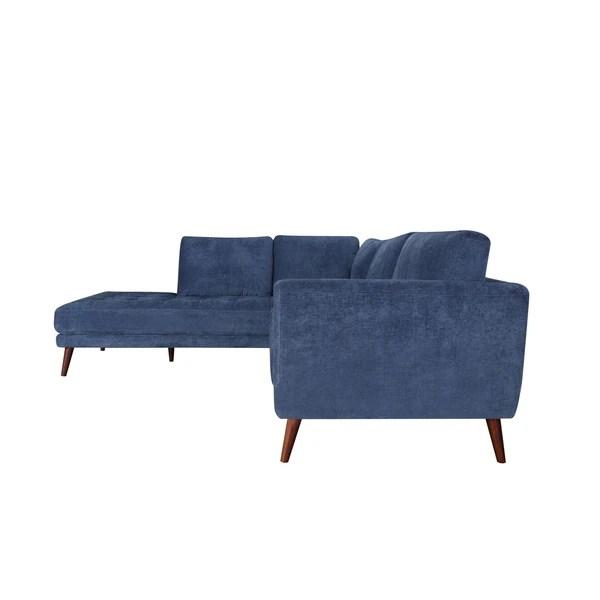 donny blue mid century modern tufted