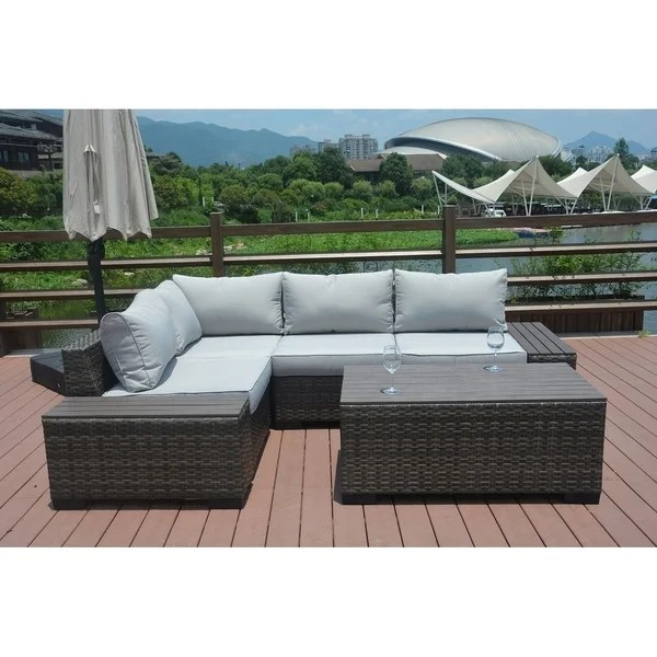 Shop 7-piece Outdoor Sofa Set By Direct Wicker Patio ... on Outdoor Loveseat Sets  id=97994