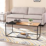 Strick Bolton Kelsey Metal And Natural Wood Coffee Table Overstock 27654273