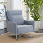 Shop Black Friday Deals On Christine Contemporary Accent Chair On Sale Overstock 27655090 Grey Silver