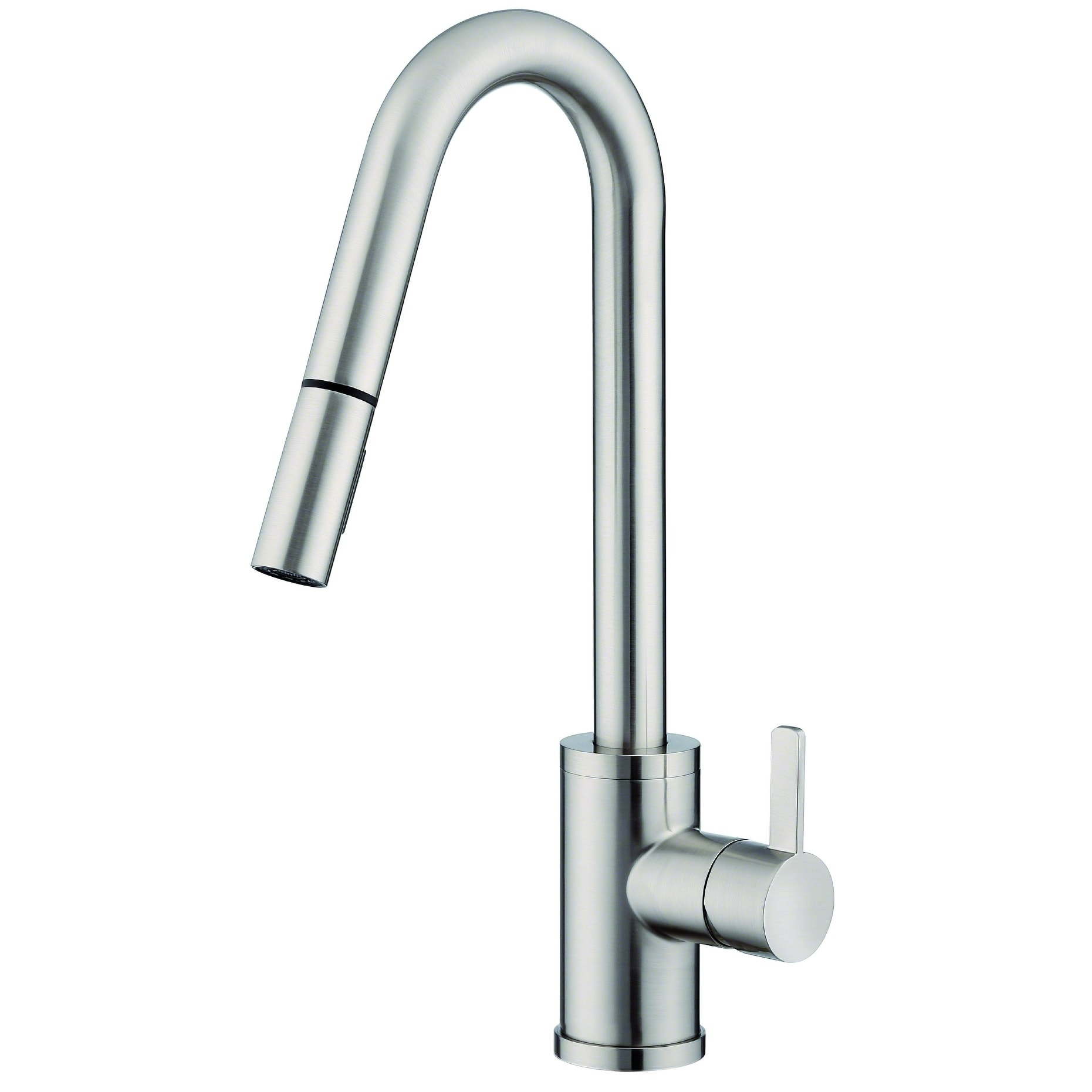 amalfi 1h pull down kitchen faucet w snapback retraction 1 75gpm stainless steel