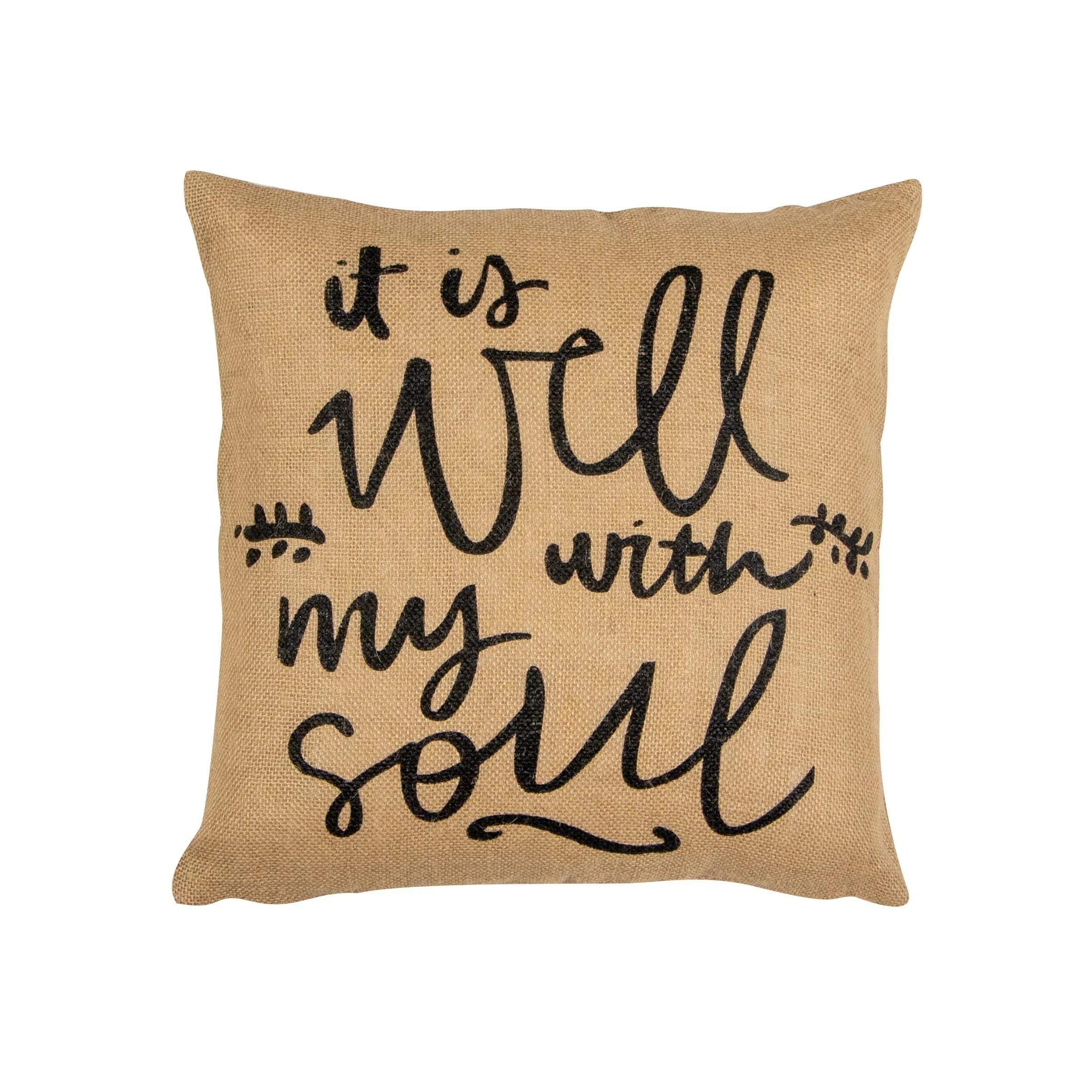 huis set of 2 16x16 burlap throw pillow