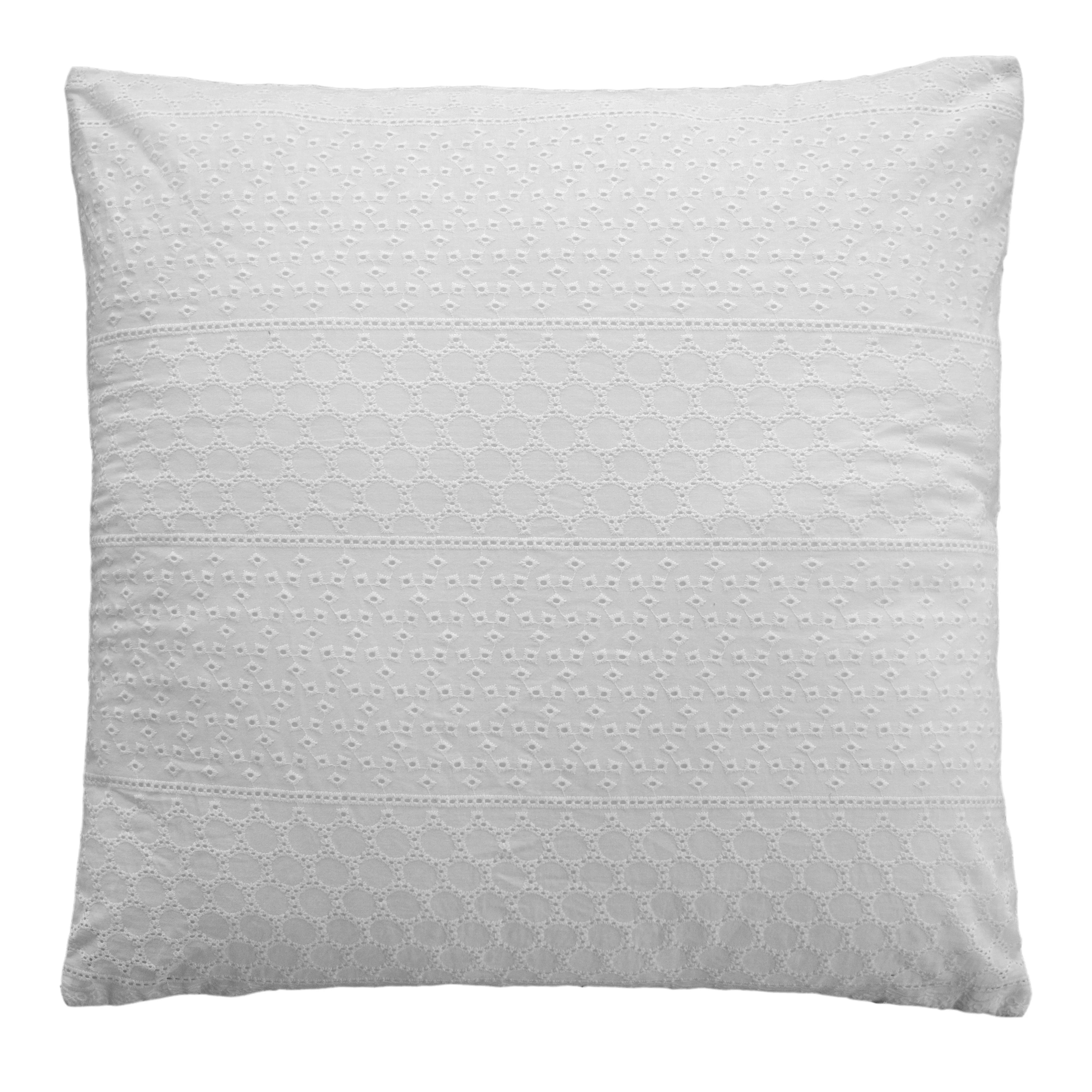 lace euro pillow cover 26x26 cover only white eyelet